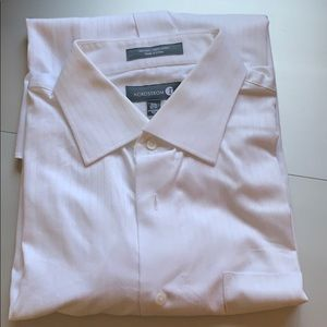 Men's White cuff link dress shirt